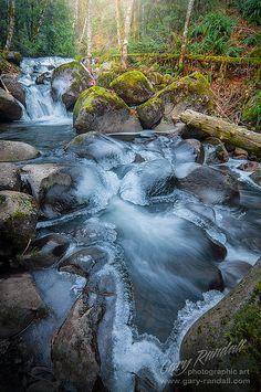 Quicksilver Falls - Frozen Boulder Creek - Brightwood, Oregon