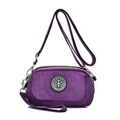 Women Nylon Clutches Bags Girls Mini Shoulder Bags Front Pocket Crossbody Bags