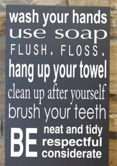 Bathroom Signs To Clean Up After Yourself bathroom signs for home | pinterdor | pinterest | bathroom designs
