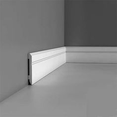 The SX105 skirting has a modern linear feature groove and at just over 4 inches high x half an inch thick provides a modern style, whilst still being able to hide untidy wires