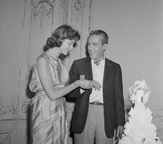 Wedding of Lauren Bacall to Jason Robards (m. 1961-1969; divorced)