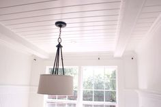plank ceiling instead of popcorn ceiling