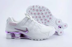 Womens Double White and Pink Nike Shox NZ with Pink Plating