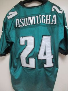 Nnamdi Asomugha Reebok  24 Philadelphia Eagles NFL Sewn Football Jersey  Size 52 45d75055a