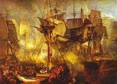 JMW Turner. The Battle of Trafalgar as seen from the mizen ...