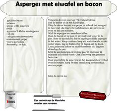 Asperges met eiwafel en bacon