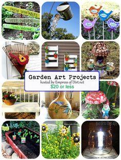 12 Garden Art Projects Under $20 hosted by www.empressofdirt.net