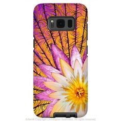 Orange Lotus Blossom - Artistic Samsung Galaxy S8 Tough Case - Dual Layer Protection - sun bloom