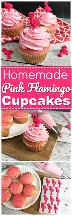 These Flamingo Cupcakes are super fluffy, light with just right the texture, and that pink frosting is the perfect color for the upcoming summer months. These cupcakes are perfect for those summer parties or beach-themed birthdays and are sure to make quite a presence in their place on the table. #FlamingoCupcakes #BeachThemedParty #PinkFlamingos https://www.southernfamilyfun.com/pink-flamingo-cupcakes/ via @winonarogers