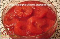 Compota de maçãs com gelatina diet Esta sobremesa ,além de saudável por conter fruta, é uma delícia... bem refrescante, é ideal para o v...