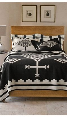 Pendleton Black Los Ojos Blanket Collection