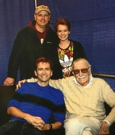 David Tennant with Stan Lee and fans at the Wizard World Jan 2018