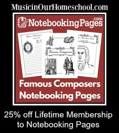 We LOVE using Notebooking pages in our homeschool. Here's an awesome deal: 25% off a Lifetime Membership to Notebooking Pages, where you'll find pages for every subject you'll study!