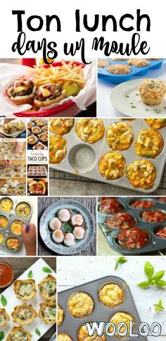Voici quelques idées de lunch dans un moules à muffins #recette #lunch #mignon Bento And Co, Bento Box Lunch, Ww Recipes, Baby Food Recipes, Healthy Recipes, Weight Watchers Lunches, Baking Muffins, Meal Prep, Voici