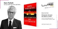 Retrouvez Ken Follet au #SDL2015 le 22 mars prochain !