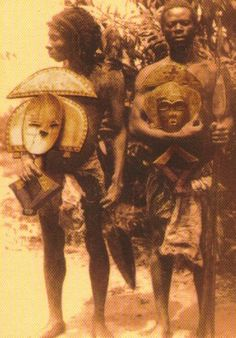 Kota men. Like many of the tribes my Y-Chromosome is associated with in Gabon, it has been a real challenge finding images of the tribal people. More than likely it has to do with the remoteness of the region and the challenging terrain, which makes travelling difficult.