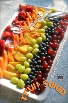 funlunchbox.com - Summer rainbow fruit salad.