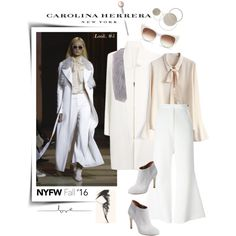 A fashion look from February 2016 by watereverysunday featuring Chicwish, Roland Mouret, E L L E R Y, Elorie, Thierry Lasry, Carolina Herrera, women's clothing,...