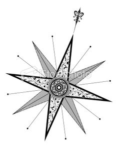 Compass (Vector) Royalty Free Stock Vector Art Illustration