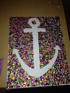 anchor craft, xmas gifts, delta gamma crafts, rhineston anchor, crescent