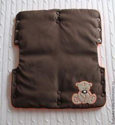"""Купить Прогулочный комплект """"На прогулку с Тедди"""" - оранжевый, конверт ручной работы, конверт для малыша"""