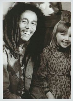 Bob Marley and child during  Is This Love music video 1978, London, England.