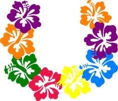 Hawaiian Flower Clip Art | Hibiscus Lei clip art - vector clip art online, royalty free & public ...