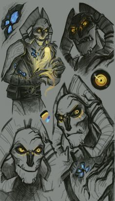 Angor Rot sketches - by CalistoZom