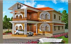Sloped #Roof Single Storied #KeralaHouse with perfect #HomeDesign@ 2821 Sq-ft  Ground Floor - 1895 Sq.Ft Porch Sit out Drawing Dining Prayer room & Toilet Bed room -2 Attached Dress & Bath room - 2 Kitchen First Floor - 926 Sq.Ft Upper Living Bed room - 2 Attached Bath room - 2 Balcony Total : 2821 Sq.ft