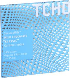 Tcho Chocolate Organic Chocolate Bar - SeriousMilk - Milk Chocolate - 39 Percent Cacao - Classic - 2 oz Bars - Case of 12