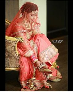 Kirandeep Photography , based in Chandigarh. Specializes in Fine Art Wedding photography, Fashion and lifestyle photography. Indian Bridal Fashion, Indian Bridal Wear, Asian Bridal, Indian Wedding Outfits, Bridal Outfits, Indian Outfits, Bridal Dresses, Indian Weddings, Sikh Wedding