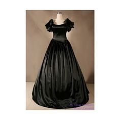 Cloaks:Exquisite Colonial Satin Wedding & Ball Gown (6,660 INR) ❤ liked on Polyvore featuring dresses, gowns, gown, satin ball gown, satin gown, satin evening dresses, satin evening gown and satin dress