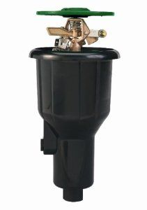 "Orbit 55034 Sprinkler System Satellite Brass 2-1/2-Inch Pop-Up Impact Canister with 25 to 45 -Foot Coverage by Orbit. Save 22 Off!. $25.77. Universal - Replaces or works with impact or gear drive sprinklers. 2 1/2"" Pop-Up height. Flow Thru Design - For Superior disry water performance. Solid Brass Impact Head - For a smooth impact rotation. Heavy-duty, UV resistant canister with reinforced ribbed design. From the Manufacturer                The Satellite Brass Pop-Up Impact               ..."