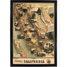 Unique Map of California
