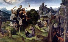 """Painting """"Scenes uit het leven van St. Antonius Abt"""" by Cornelis Cornelisz. Kunst - www.schilderijen.nu"""