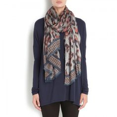 Printed modal and cashmere blend scarf_Lara Bohic
