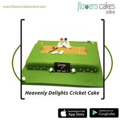 To cheer up a cricket player or cricket fan you can present this interesting Cherubic Players Resting Cake on his birthday, achievements or on many such occasions. This cake is made in 3 kilograms in flavors like Chocolate, Butterscotch, Pineapple and Vanilla. #FlowersCakesOnline #SendcCaketoIndia #SendFlowersandCaketoIndia