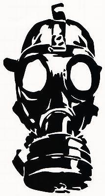 Gas mask- vinyl decal sticker car truck window bumper zombie ...