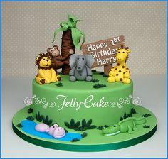 Jungle 1st Birthday Cake | A 1st Birthday Cake designed arou… | Flickr