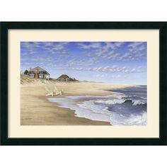 Found it at Wayfair - 'Hampton Beach' by Daniel Pollera Framed Painting Print
