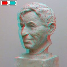 The Face - 3D Anaglyph Photography.