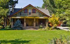 Bungalow Exterior, Bungalow Homes, Craftsman Style Homes, Craftsman Bungalows, Bungalow Ideas, My Dream Home, Dream Homes, Beautiful Homes, New Homes