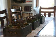 Love the 3 box idea for d/r table!