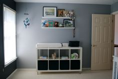 Ikea Kallax (formerly Expedit) with Capita legs as changing table