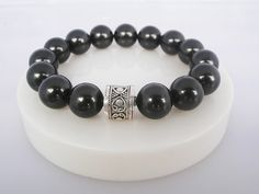 Cultured Black Pearl Prosperity Bracelet by KartiniStudio on Etsy