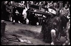 A Raven mask dancer at a Kwakwaka'wakw ( #Kwakiutl) #potlatch, photograph by David Neel