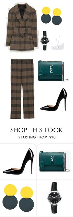 """145"" by explorer-15097125162 on Polyvore featuring мода, Yves Saint Laurent и Movado"