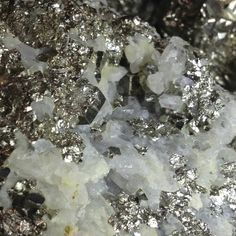 pyrite and calcite crystals