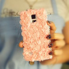 Flower Lace Samsung Galaxy Case Baby Pink by Galaxy Note 4 Case, Galaxy Phone Cases, Cute Phone Cases, Samsung Galaxy S5, Samsung Cases, Iphone Cases, Galaxy 5, Iphone 6, New Phones