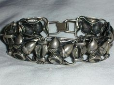 ART DECO STERLING ACORN BRACELET